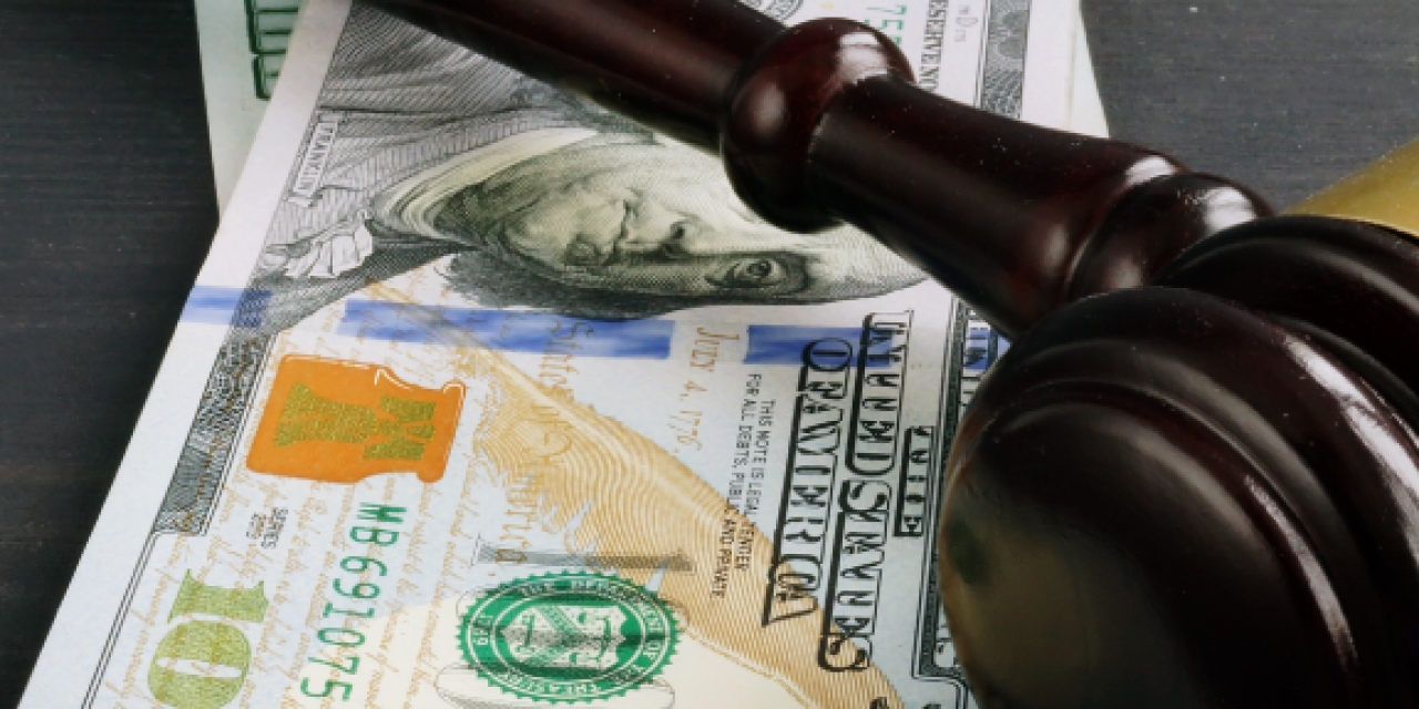 image of Gavel and money