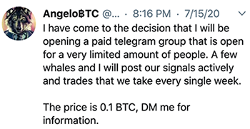 AngeloBTC Tweet